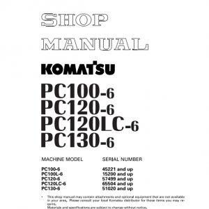 Tài Liệu Sửa Chữa Komatsu PC100-6 PC120-6 PC120LC-6 PC130-6 Shop Manual