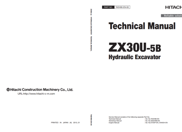 Tài liệu sửa chữa Hitachi ZX30U-5B Technical Manual