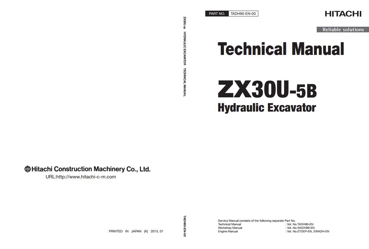 Tài liệu Hitachi ZX30U-5B Technical Manual