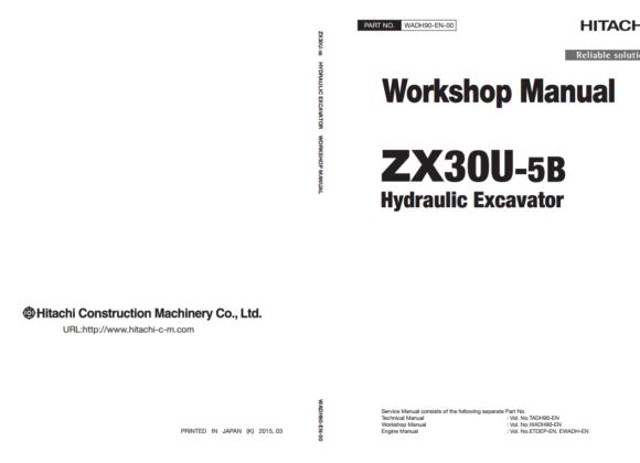 Tài liệu sửa chữa Hitachi ZX30U-5B Workshop Manual