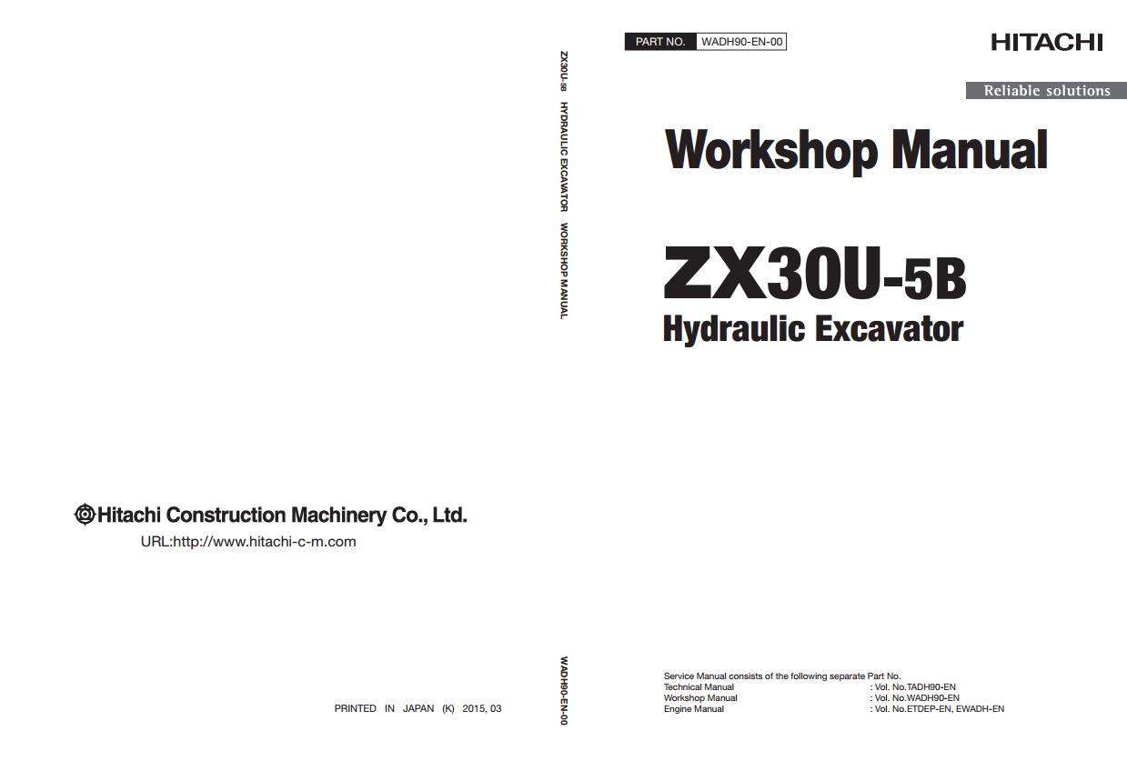 Hitachi ZX30U-5B Workshop Manual