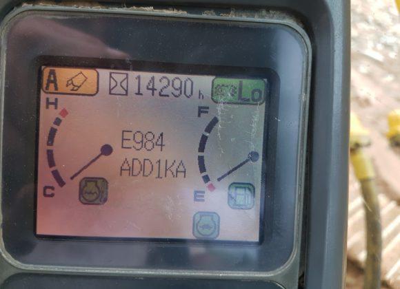 Mã lỗi máy xúc Komatsu PC200-7 trên màn hình táp lô