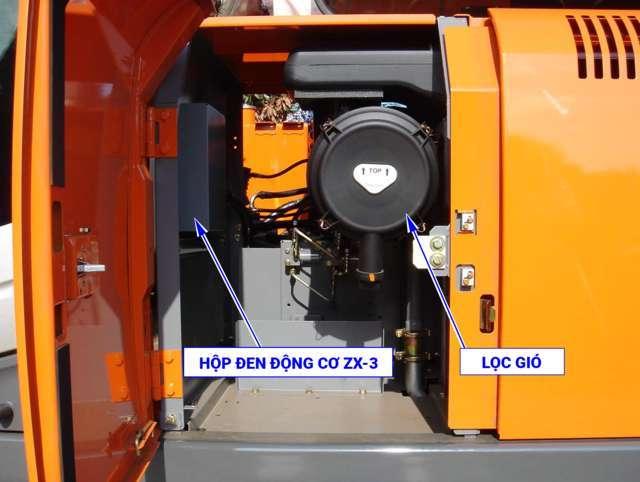 Vị trí hộp động cơ ZX200-3