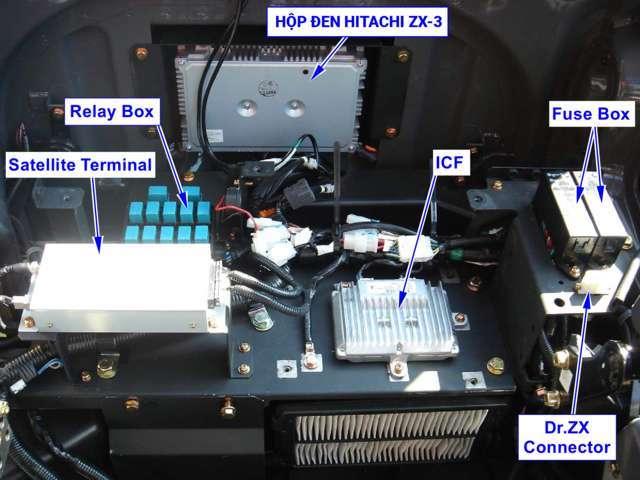 Vị trí hộp đen thủy lực HItachi ZX200-3
