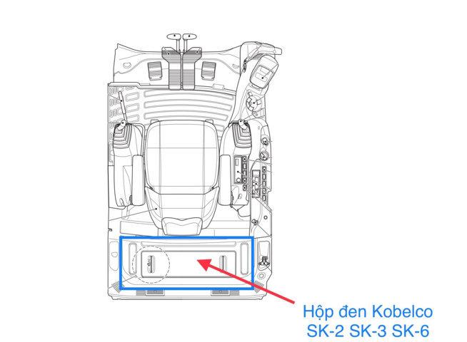 Vị trí chính xác của hộp đen Kobelco SK200-2 SK200-3 SK200-6