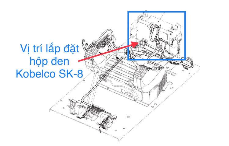 Vị trí chính xác của hộp đen Kobelco SK200-8 SK250-8 SK330-8 SK350-8