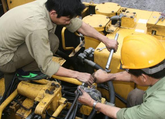 Hướng dẫn sửa chữa máy xúc