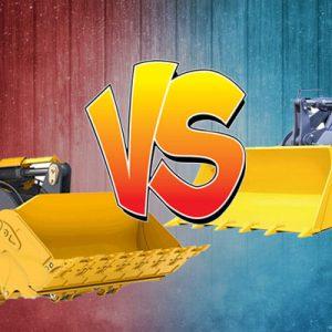 So sánh máy xúc bánh lốp và máy xúc bánh xích