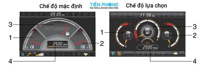 Cách sử dụng màn hình máy đào Hyundai Robex R140-9S