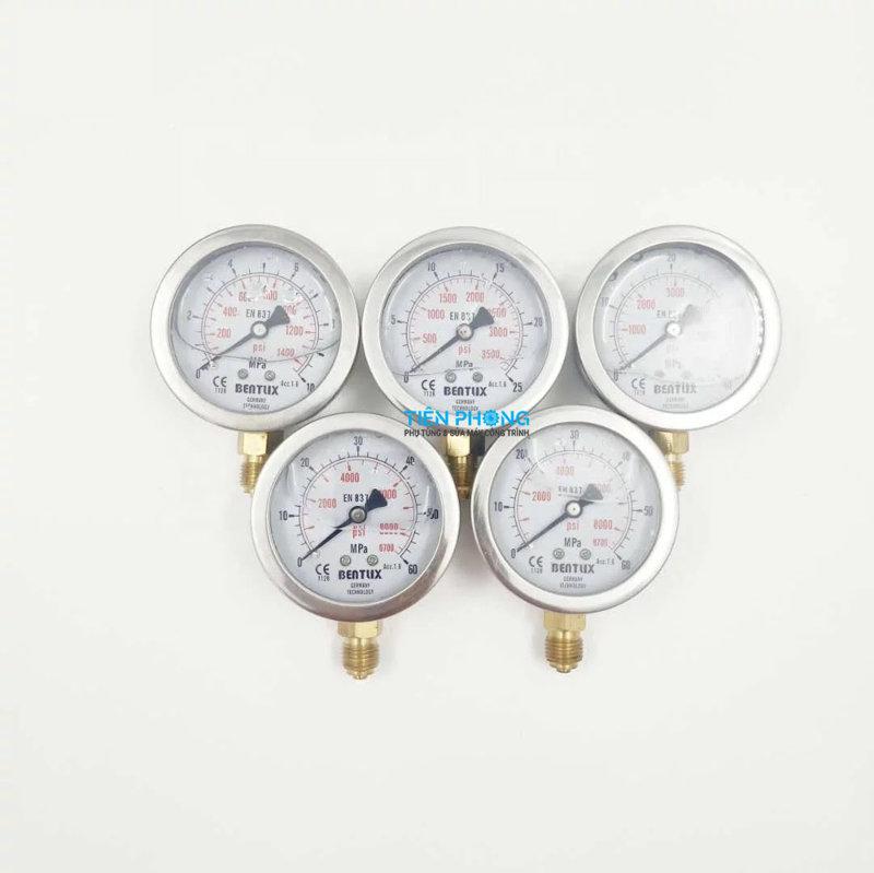 Bộ 5 đồng hồ đo thủy lực