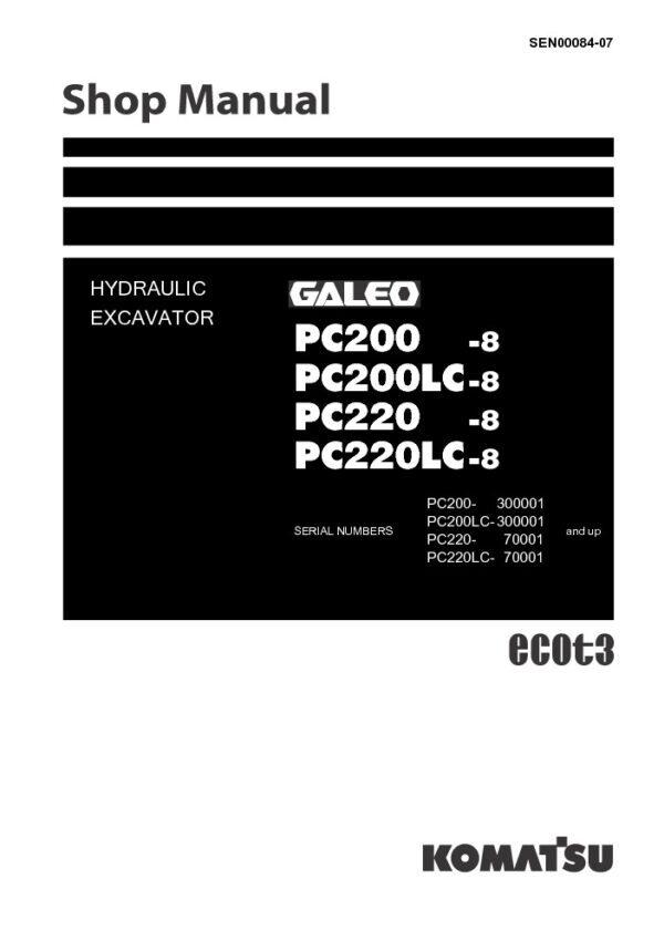 Tài liệu sửa chữa Komatsu PC200-7 PC200LC-7 PC200-7B PC200LC-7B PC220-7 PC220LC-7