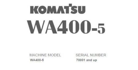 Tài Liệu sửa chữa máy Komatsu WA400-5