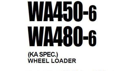 Tài liệu sửa chữa máy Komatsu WA-6 WA450-6 66001 WA480-6 85001