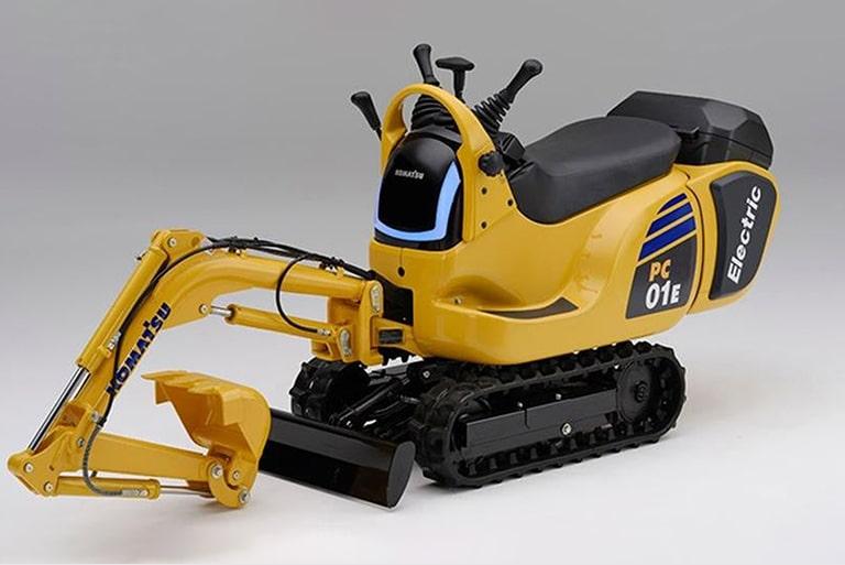 may xuc komatsu sieu nho 1 - Komatsu và Honda hợp tác sản xuất máy xúc siêu nhỏ chạy bằng pin